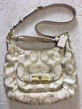 Women's Coach Kristin Signature Handbag Crossbody Cream Gold Bag