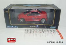 Welly Peugeot 206 cc Coupé Coupe Cabriolet Working Roof Red Black 9858W 1/18 NEW