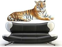 HUGE CAT Mural TIGER Jungle Wild WALL STICKER ANIMALS Decal Removable Décor