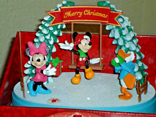 Disney Animated Lighted Musical Christmas Mickey Mouse & Friends Display