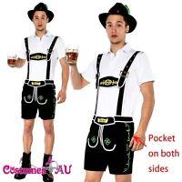 Mens Oktoberfest Embroidery Lederhosen Octoberfest Bavarian German Beer Costume