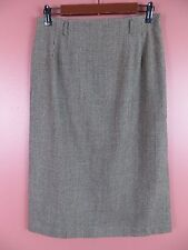 SK10715- TALBOTS Woman 99% Wool Pencil Skirt Multiple Browns Plaids Stretch 8