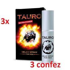 3 Confezioni SPRAY RITARDANTE TAURO 5ml extra forte contro eiaculazione precoce