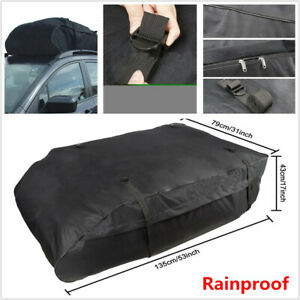 Car Touring SUV Van Roof Top Bag Rack Cargo Carrier Luggage Storage Waterproof