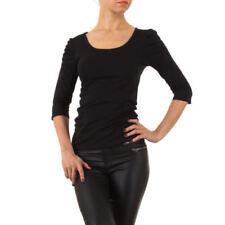 Damenblusen, - tops & -shirts mit U-Ausschnitt und Baumwollmischung in Größe 40