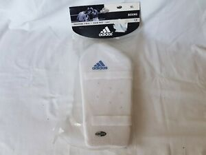Adidas Martial Arts Shin Pads Kick Boxing (MMA, Muay Thai) ADIBP07,White,Size XL