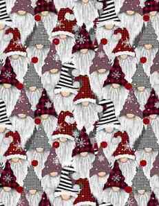 100/% Cotton Fabric Christmas Fun Snowmen Robins in the Snow 135cm Wide