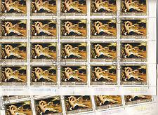 Hongrie MAGYAR Posta11 feuilles Peintures de nus Venus et Cupidon 1974 1 Ft