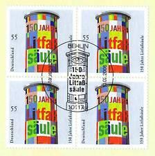 BRD 2005: Litfaßsäule! Viererblock Nr. 2444 mit Berliner Sonderstempel! 1A! 1704