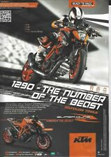 an Original 2014 Magazine Advertisement for the KTM Super Duke 1290