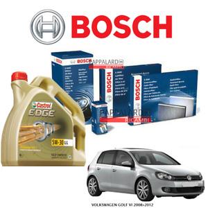 KIT TAGLIANDO FILTRI BOSCH + OLIO CASTROL + FILTRO GPL VW GOLF 6 VI 1.6 BIFUEL