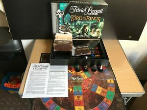 Trivial Pursuit The Lord Of The Rings Trilogy Edition DVD Board Game