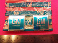 "NOS ""REAL"" 1966-1967 GM Door Jamb Stickers Camaro Chevelle Corvette ""AUTHENTIC"""
