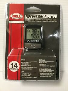 Bell Sports 7070593 14 Function Weather Resistant Black Plastic Bike Computer
