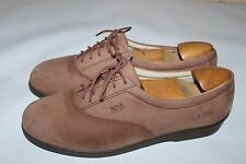 SAS Liberty Women's 10.5 M Brown Suede Oxford Lace Up Shoes Occupational