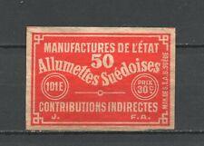 "Made in Sweden ""Allumetes Suedoises"" Vintage Matchbox Label"