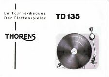 Thorens Bedienungsanleitung user manual für TD 135