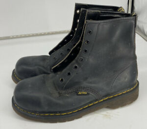 VINTAGE DR MARTENS AIR WAIR 7 HOLE MADE IN ENGLAND BLACK BOOTS UK SiZE 8