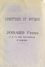 """Catalogue """"Lunetterie et Optique"""" par Jobard Frères à Paris (Français)"""