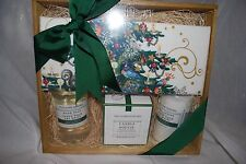 WILLIAMS SONOMA WINTER FOREST LOTION SOAP CANDLE GIFT SET WOOD CRATE TOWEL NEW
