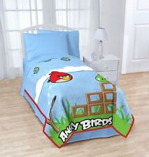 "Angry Birds Twin / Full Oversized Plush Blanket - 62"" by 90"""