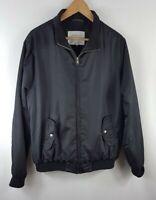 Next Mens Zip Through Jacket Large Size L Bomber Coat Black Mans Polyester