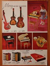 1966 Vintage PAPER PRINT AD baby grand piano guitar zither toys Popeye projector