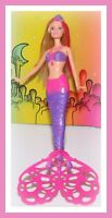 ❤️Mattel Barbie 2014 Mermaid Bubble-tastic Doll Spinning Tail Bubbles❤️