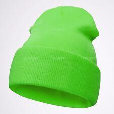 New Cuff Beanie Plain Knit Hat Winter Warm Cap Slouchy Skull Ski Hats Warm Cap/O