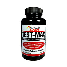 TEST-MAX Pills~Natural Anabolic Enhancer~Muscle Growth~Fat Burner~Sex Drive