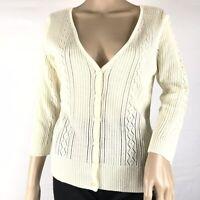 Women's NWT New York And Company Cardigan Ivory Size Medium M FAST FREE SHIPPING