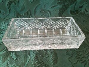 Vintage Heavy Lead Crystal Cracker Holder Dish