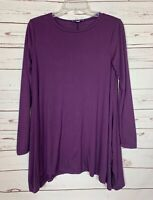 Boutique She + Sky Purple Fall Winter Long Sleeve Tunic Top Tee Women's S Small