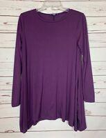 She + Sky Stitch Fix Women's S Small Purple Long Sleeve Winter Tunic Top Shirt