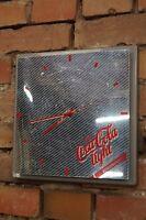 Vintage Wanduhr 70er Mid Century Design 70s Uhr COCA COLA LIGHT Retro Reklame