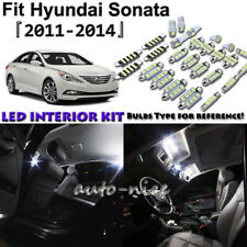 10x White LED Interior Lights Package Kit For 2011 2012 2013 2014 Hyundai Sonata