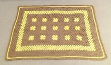 Afghan/Blanket/Throw-Hand made Crocheted 38� By 52� - Great Gift - Yellow & Brown