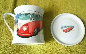 The Leonardo Collection Volkswagen VW Camper Design Fine China Mug & Coaster Set