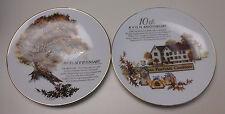 Two Avon 5Th Anniversary & 10Th Aniversary Porcelain Plates Trim 22k Gold