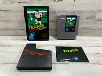 Tennis Complete in Box NICE! Nintendo - Manual & Dust Sleeve - Free Shipping!