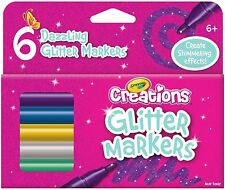 Crayola Creations - Glitter Markers - 6 pack
