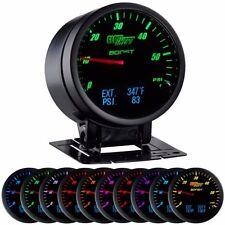 GlowShift 3 in 1 Black Boost Digital Exhaust Temp and Pressure Gauge - GS-3G-03