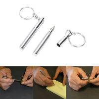 Telescopic Stainless Steel Pen Keyring Keychain Emergency Signature Tool GiftJO