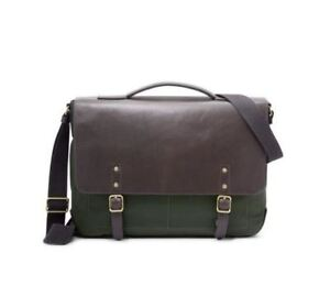 Fossil Haskell Messenger Bags Green One Size MBG9368300 NEW W/TAG