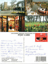 1990's MULTI VIEWS OF POULTON LE FYLDE LANCASHIRE COLOUR POSTCARD