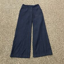Cato Wide Leg Trouser Pants New With Tags Pinstripe Cotton Blue Classic Size 4