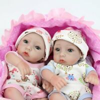 10'' Twins Reborn Baby Boy Girl Dolls Children Silicone Vinyl Clever sunny birth