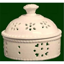 More details for royal creamware pot pourri dish trinket box 9cm decorative occasions piece oc32