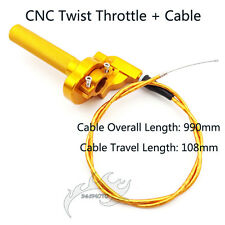 CNC Twist Throttle Cable For Atomik Thumpstar CRF50 KLX Pit Dirt Bike Motocross