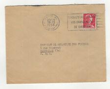 France 1 timbre sur lettre 1956 tampon Paris /L341